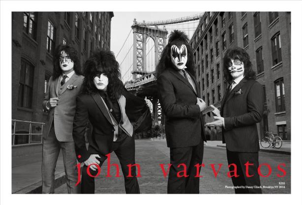 John Varvatos Dresses KISS for Spring/Summer 2014 Men's Campaign