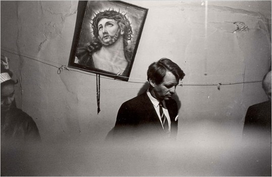 Robert F. Kennedy in slum apartment in the Lower East Side,  May 8, 1967