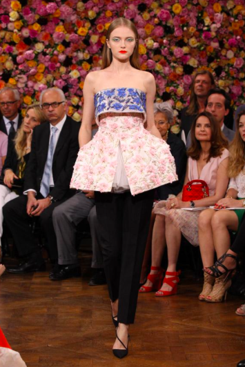 A look from Raf Simon's first Dior collecton