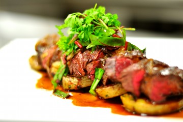 Pan Seared Hanger Steak