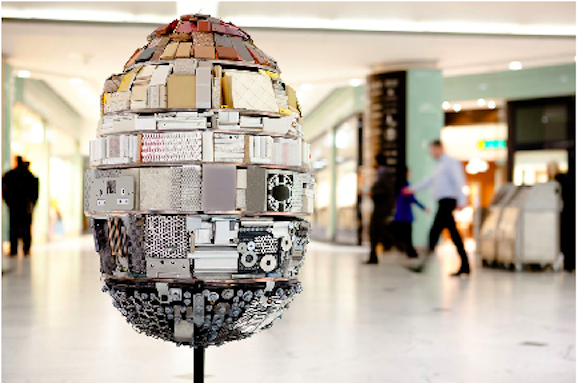 High Fashion Street Art: Faberge's City Wide Egg Hunt