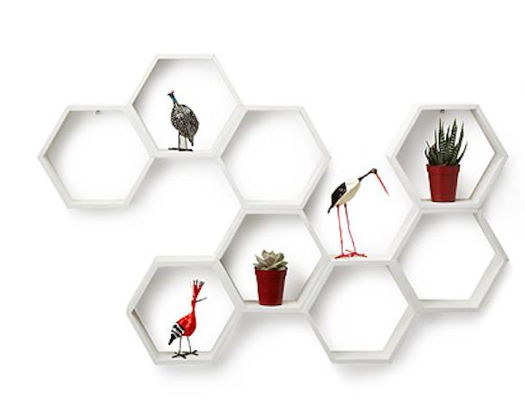 Honeycomb Decorative shelf
