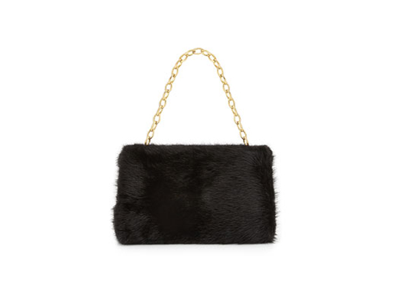 Nancy Gonzalez Small Framed Mink Fur Clutch Bag, Black