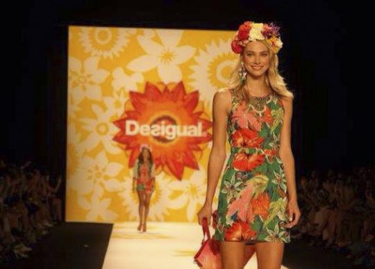 Adriana Lima debuts Desigual at New York Fashion Week