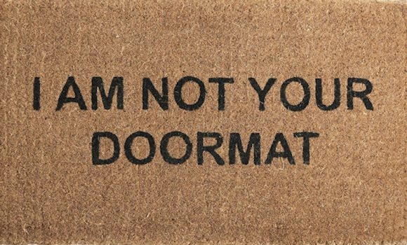 I am not your doormat wisteria