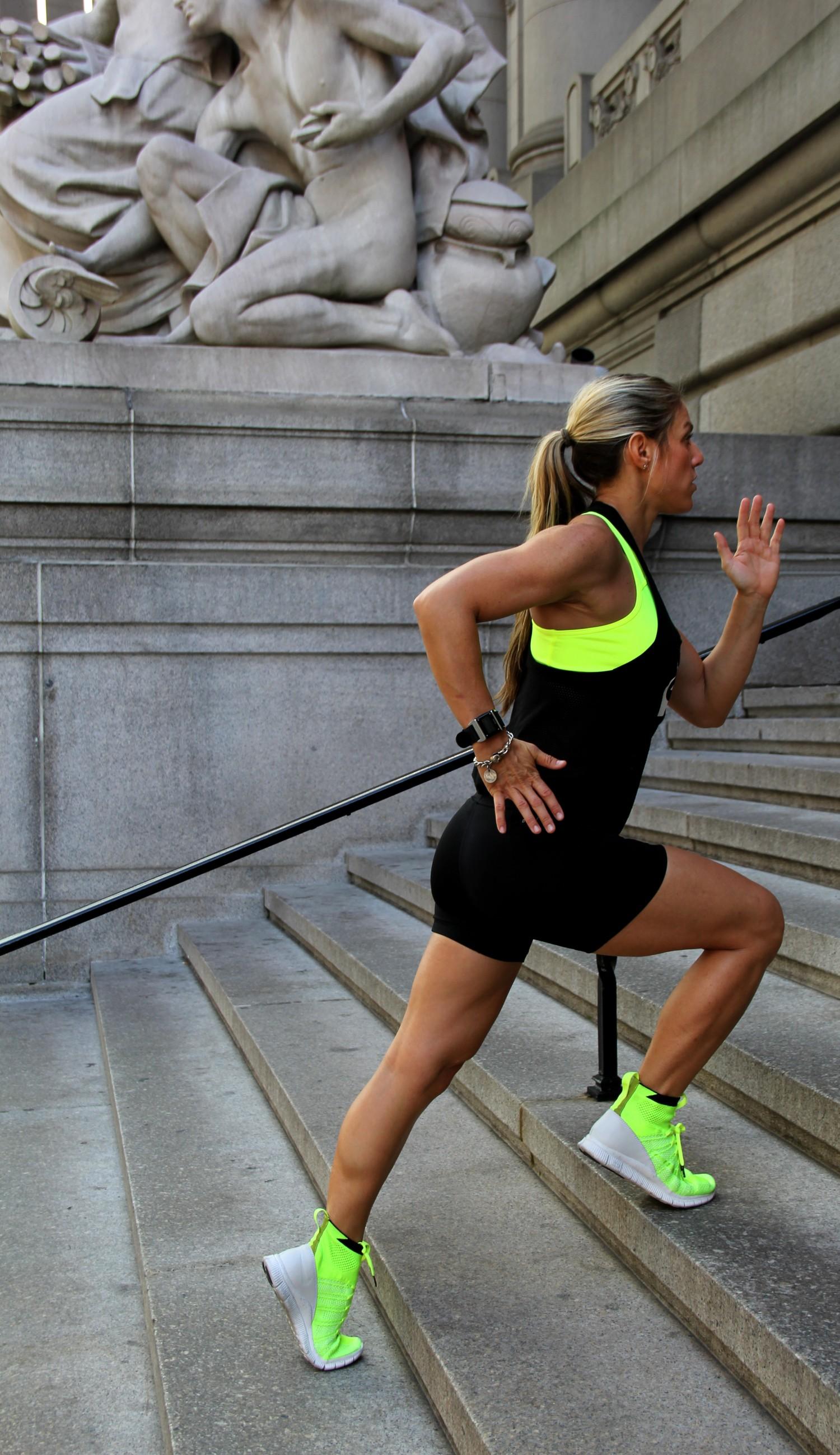 Laura Miranda Stair Training - Running