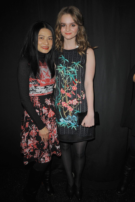 Vivienne Tam Backstage At Mercedes-Benz Fashion Week Fall 2015