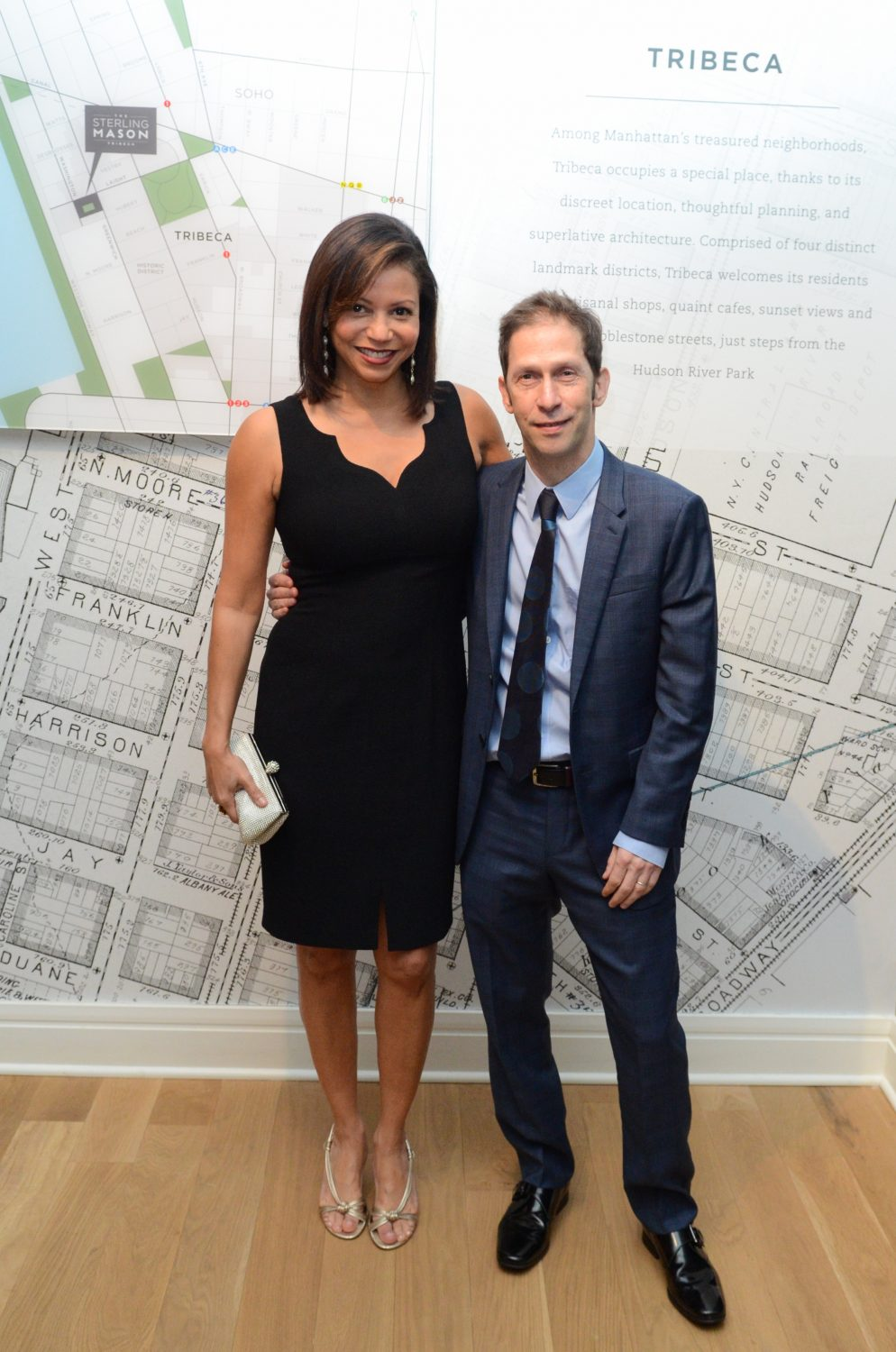 Gloria Reuben and Tim Blake