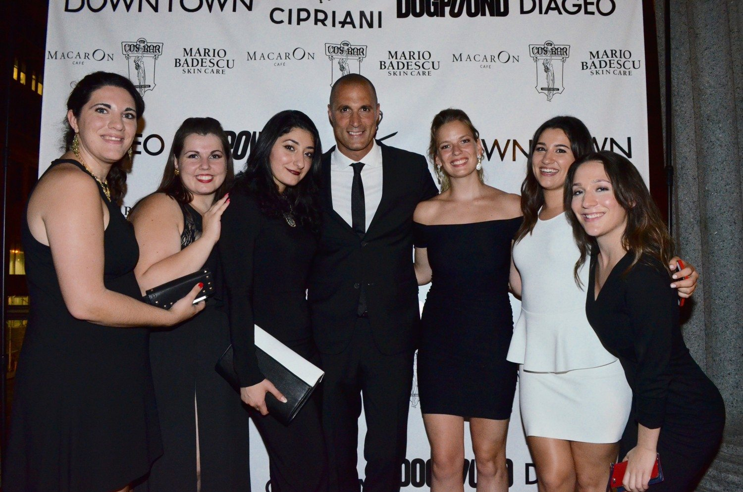 Nigel Barker and the Downtown Magazine staff