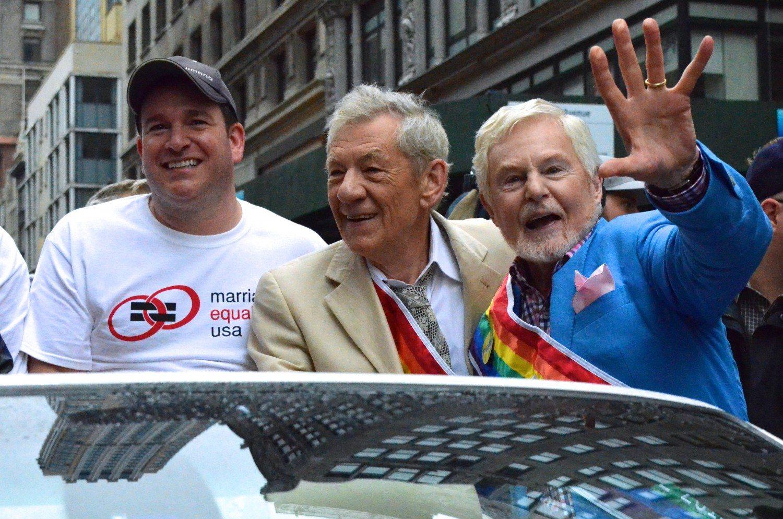 NYC Pride March Grand Marshals Ian McKellen and Derek Jacobi