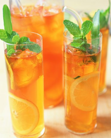 Iced tea with mint and orange. Photo c/o Cassandra Rosen, FK Interactive