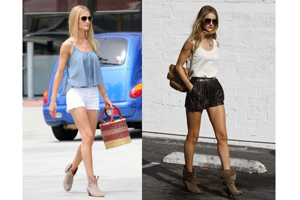 15e62cd01b28 Photo courtesy of anglestyle.tumbler  Rosie-Huntington-Whiteley CelebStyle AnkleBoots