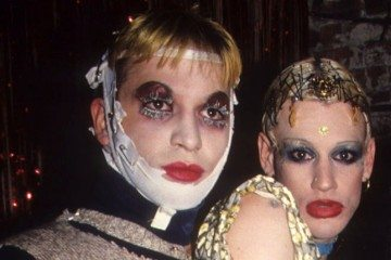 Michael Alig and Richie Rich celebrating New Years in 1994. Photo c/o Steve Eichner/Getty Images.