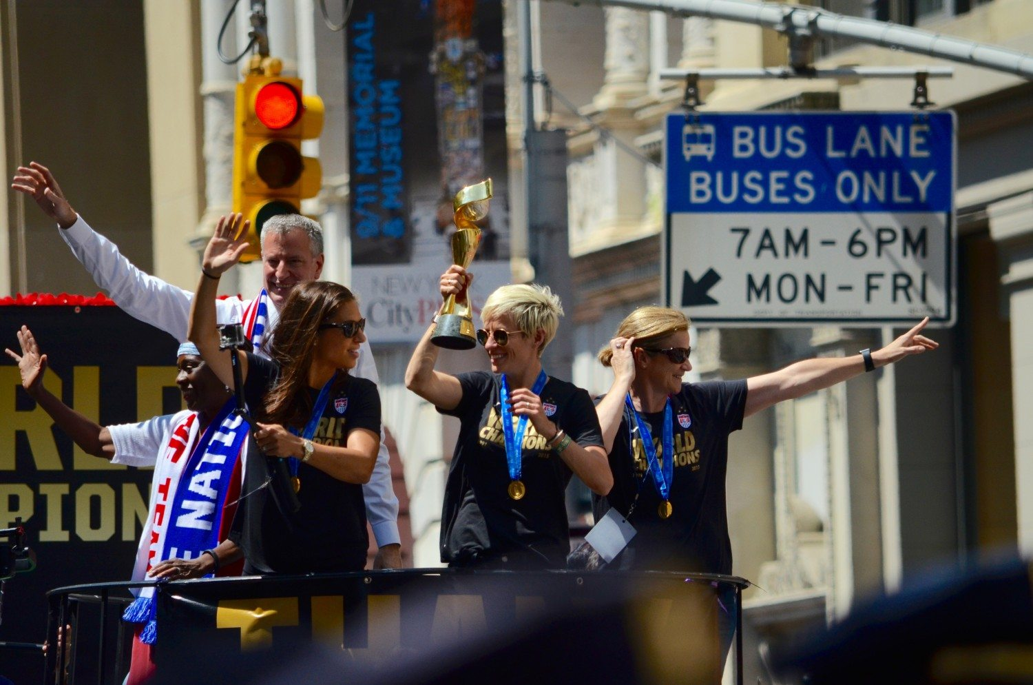 Downtown Ticker Tape Parade Celebrates U.S. Women's National Soccer Team World Cup Victory