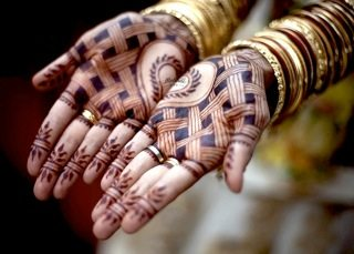 Rasika Palms Bridal Henna Stain Wide Bright