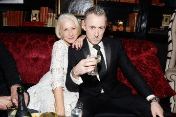 """Helen Mirren, Alan Cumming== Champagne Bollinger with The Cinema Society host a party for """"Spectre""""== The Lion, NYC== November 5, 2015== ©Patrick McMullan== Photo - Clint Spaulding / PMC== =="""