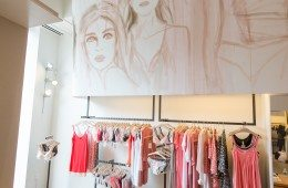 Hanro store in NYC. Mural painting by Izak Zenou. Alberto Lama Photographer