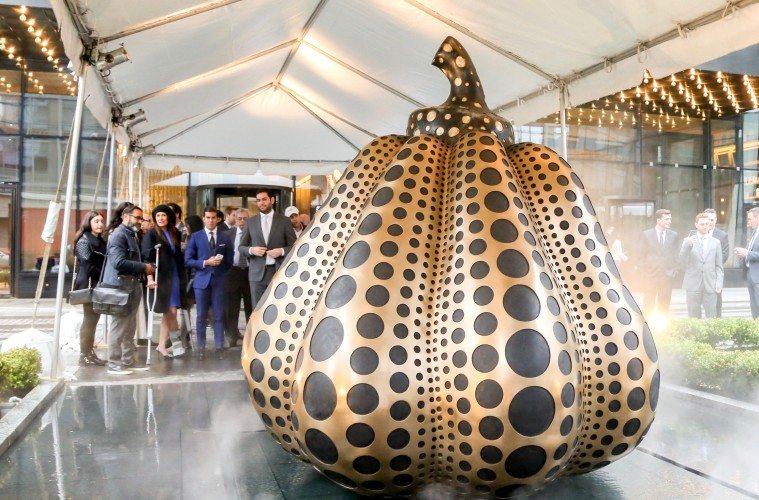 SKY Unveils Artworks by Yayoi Kusama New York City, USA - 05.04.16 Photo - J Grassi