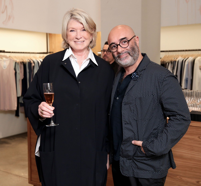 Martha Stewart and Izak Zenou