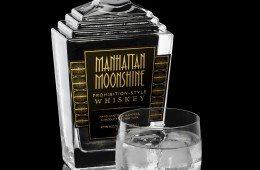 Manhattan Moonshine with Glass