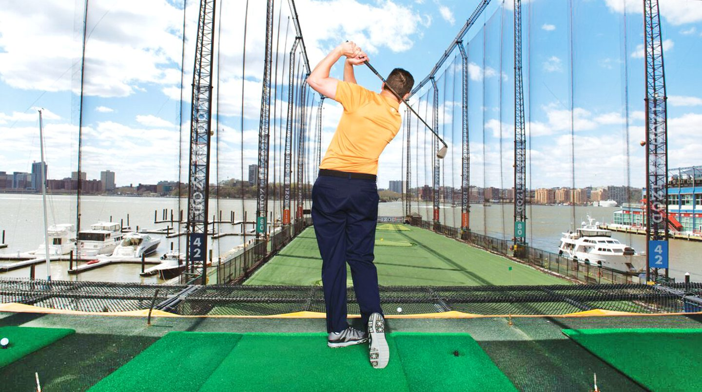 Golfing at Chelsea Piers