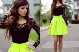 ezvkqh-l-610x610-dress-short+dress-neon-yellow+skirt-black+lace-gorgeous-blouse-skirt-green+skirts-bright-dressy-neon+skirt-black-black+high+heels--black-lace-black+lace-lace