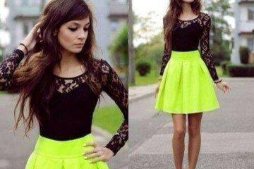 ezvkqh-l-610x610-dress-short+dress-neon-yellow+skirt-black+lace-gorgeous-blouse-skirt-green+skirts-bright-dressy-neon+skirt-black-black+high+heels--black-lace-black+lace-lace
