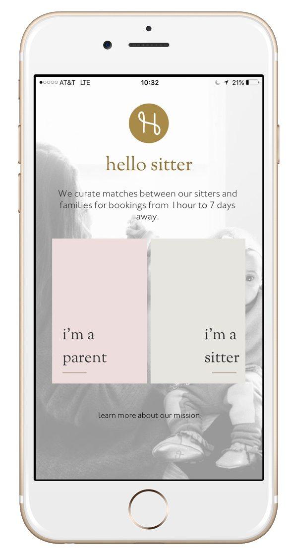 Hello Sitter - Login - iPhone 6