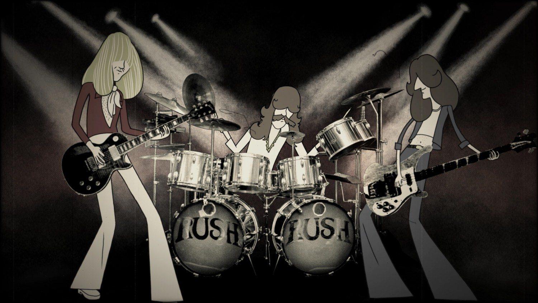 Rush animated / Courtesy of Fathom Events