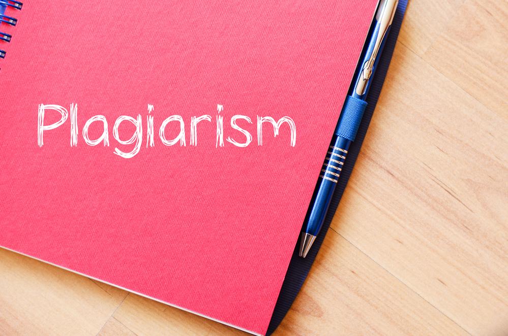 Plagiarism text concept