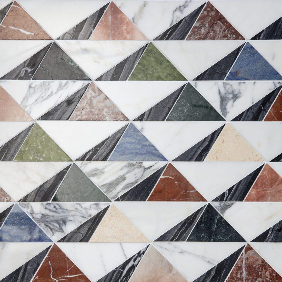 Marble mosaics.