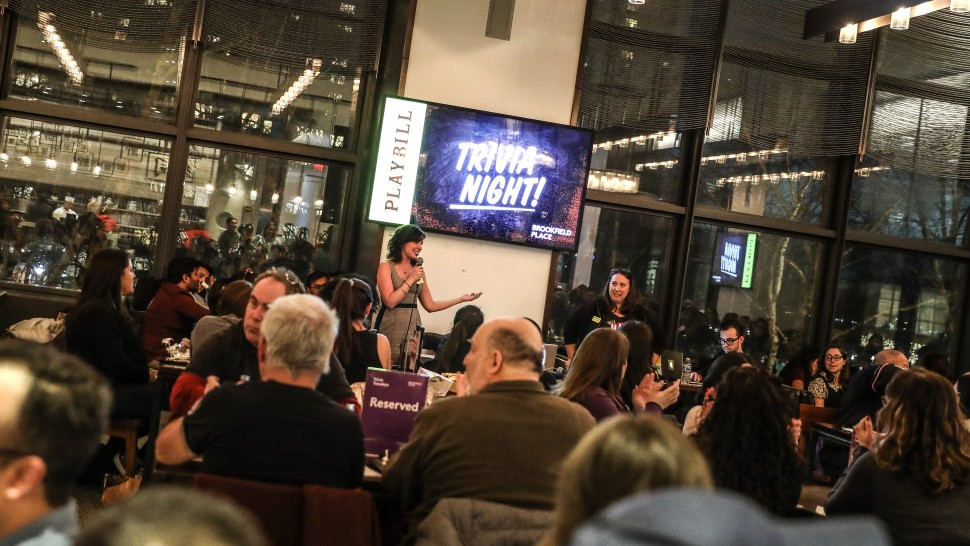 Brookfield Place and Playbill Team Up for Trivia Tuesday
