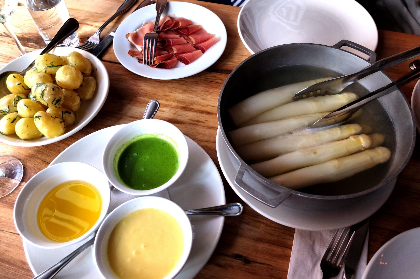 White Asparagus is the star at Cafe Katja on the LES