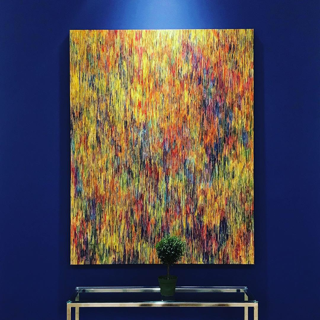 Custom color by Martin Kesselman, for Michele Mariaud Gallery at the Affordable Art Fair