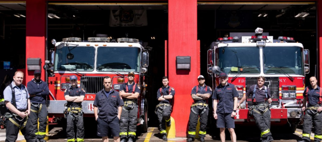 FIREFIGHTERS SELF-ISOLATE TO KEEP THEIR FAMILIES SAFE