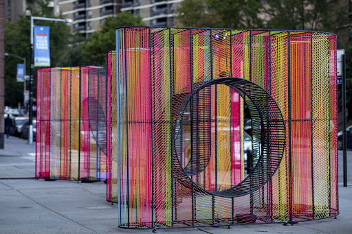 """""""Ziggy"""" Adds Colorful New Perspective To Water Street Plaza"""