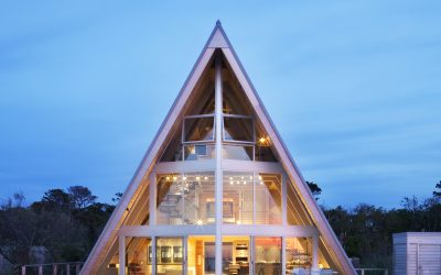 The Bay is Framed by this Modern A-frame